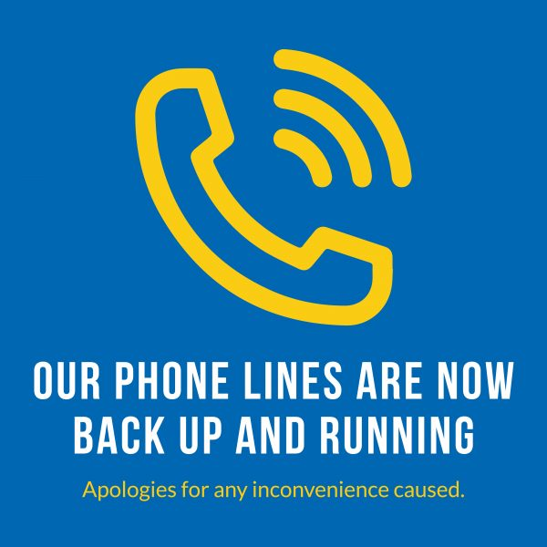 Phone lines back up