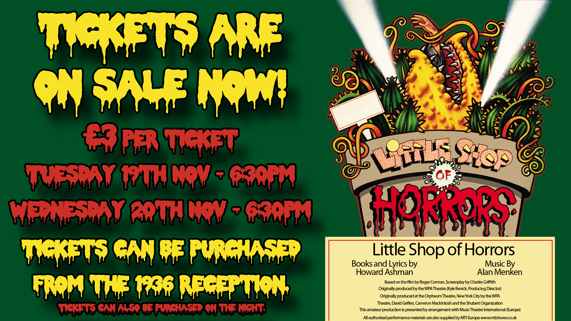 Little Shop of Horrors Performance