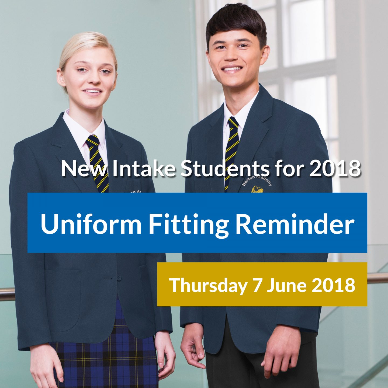 Facebook Uniform - New intake fitting date reminder - SQ3
