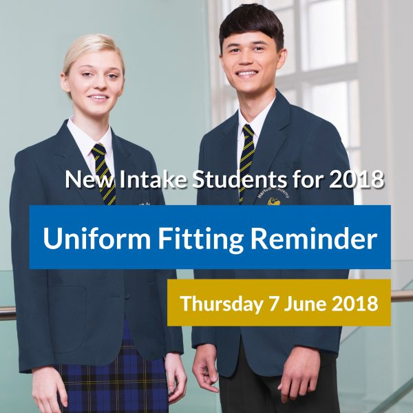 Facebook Uniform - New intake fitting date reminder - SQ3