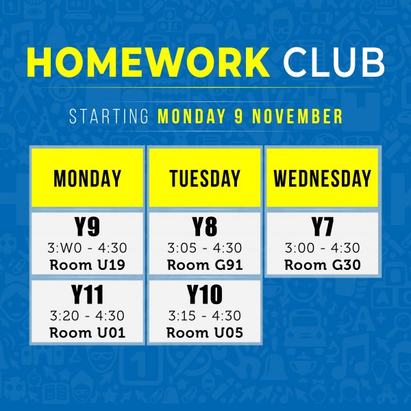 Homework Club Poster SQ