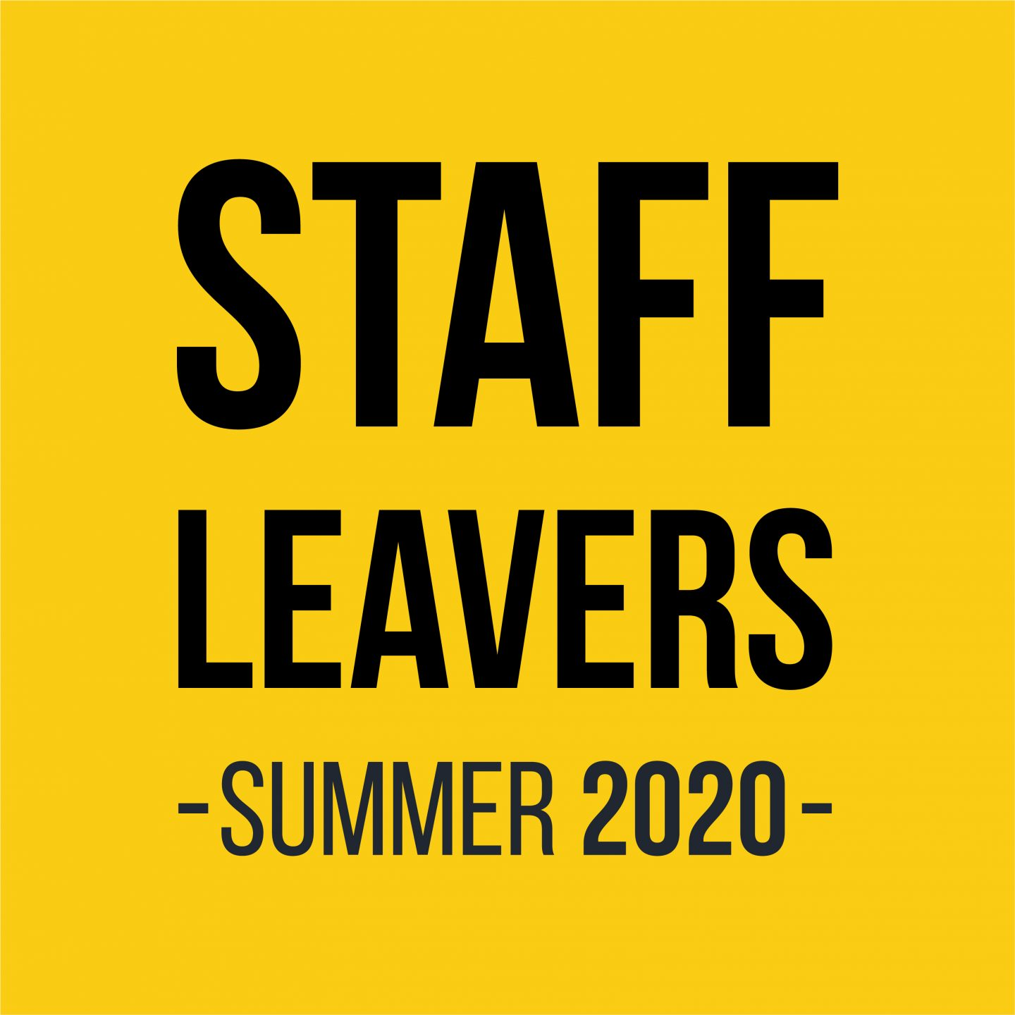 Staff Leavers 20204
