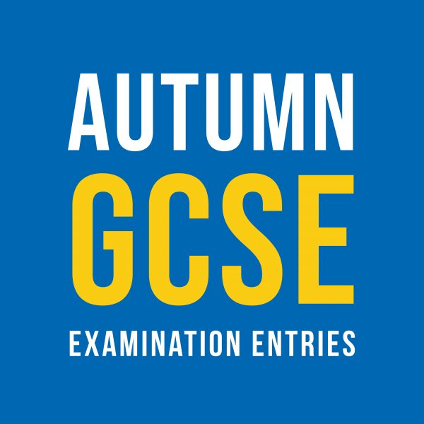 Autumn GCSE Examination entries