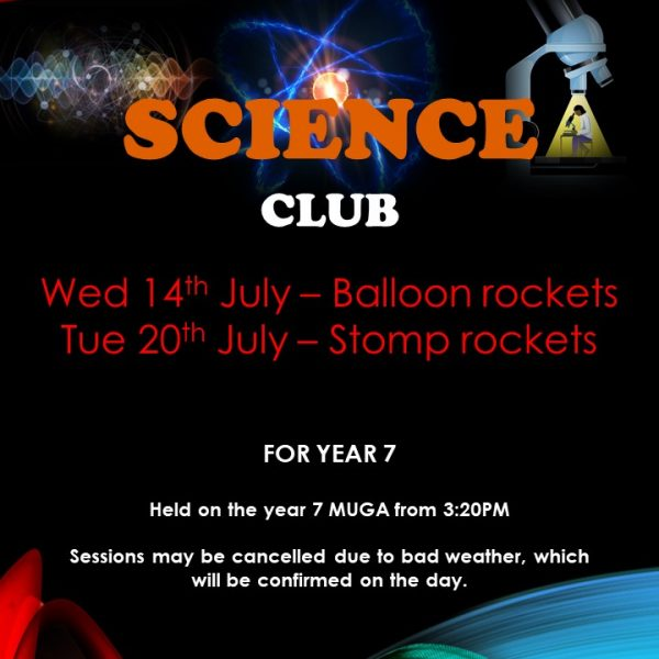Science Club upcoming