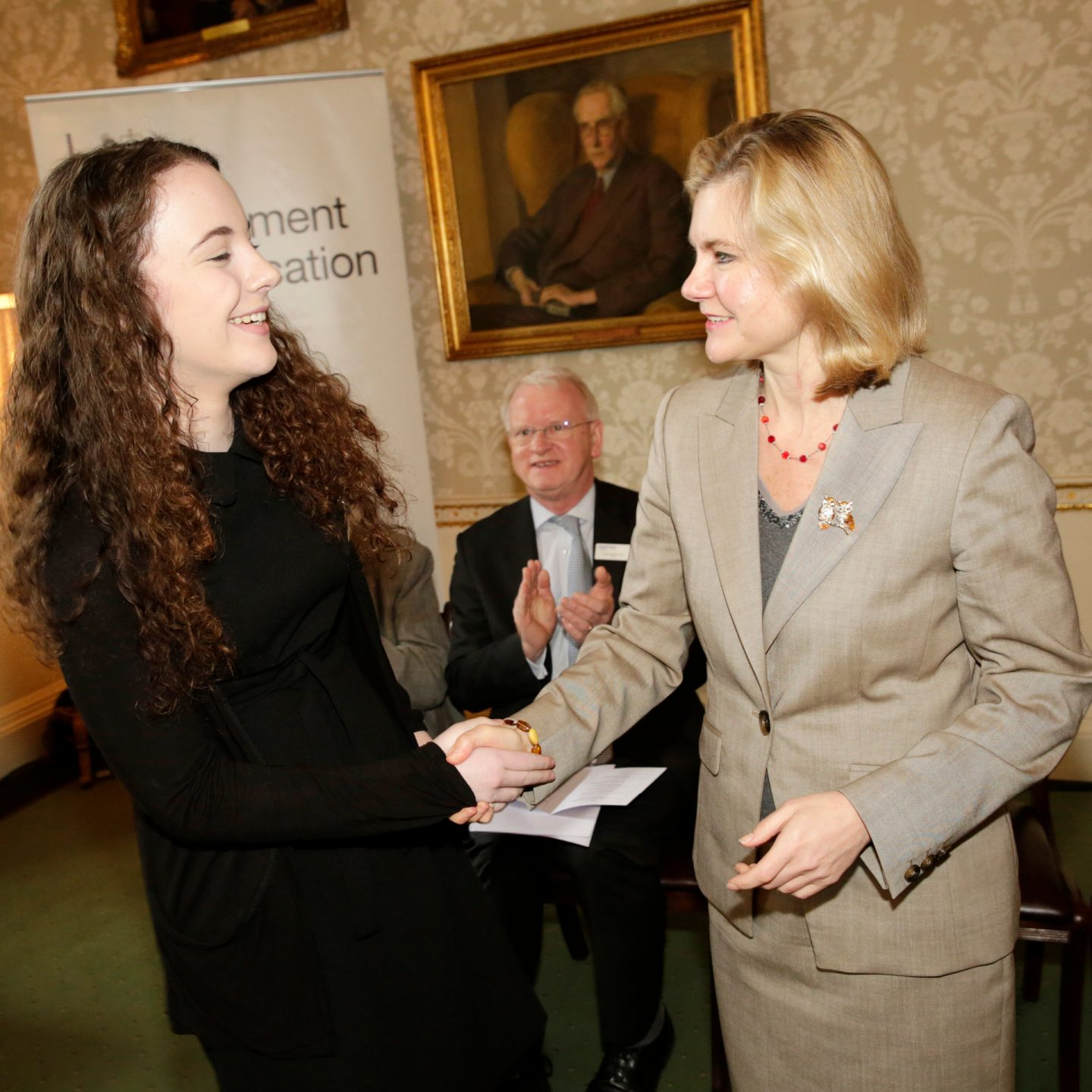 Annalise and Justine Greening 1