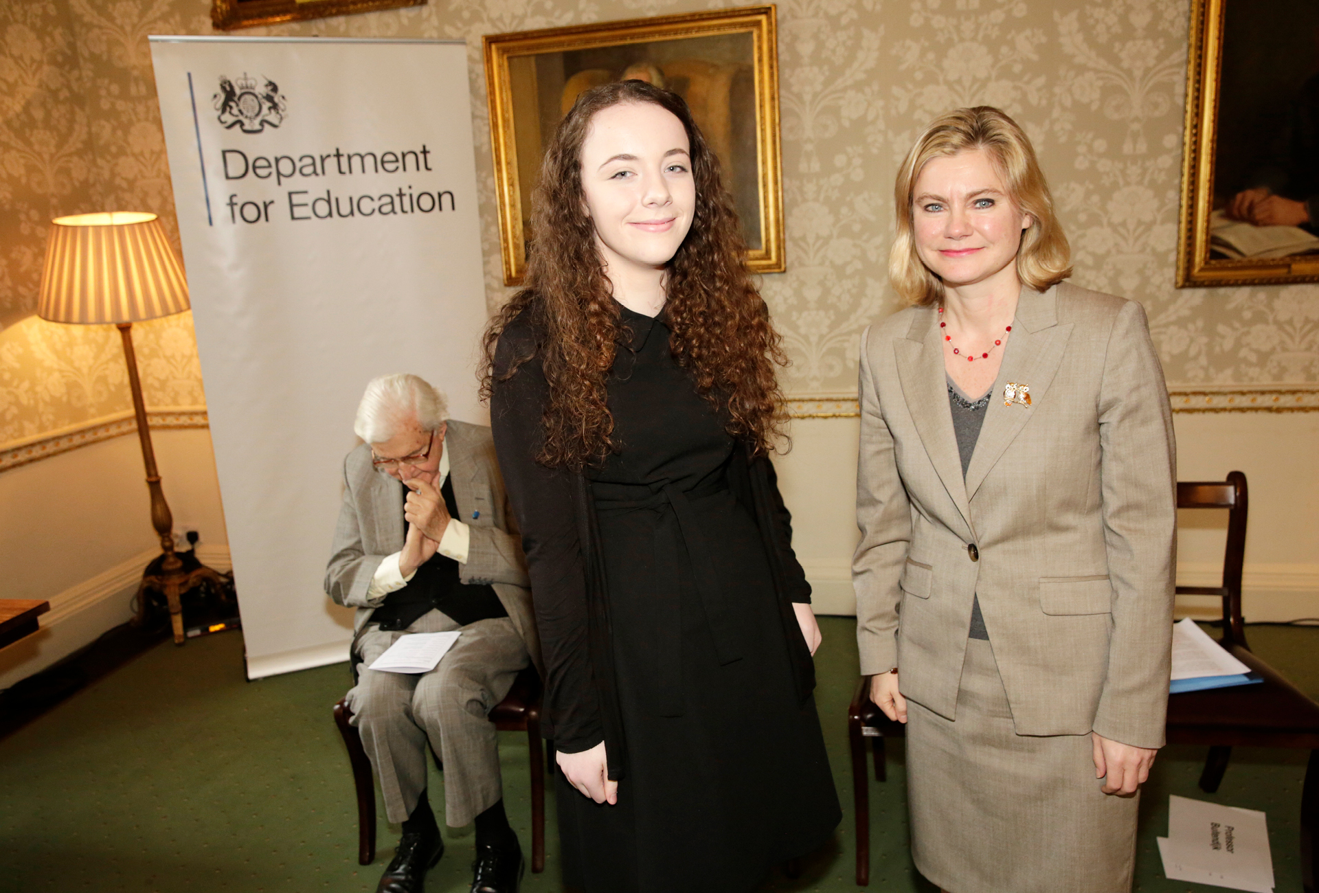 Annalise and Justine Greening 2