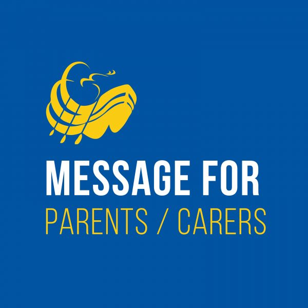 Message for parents-carers
